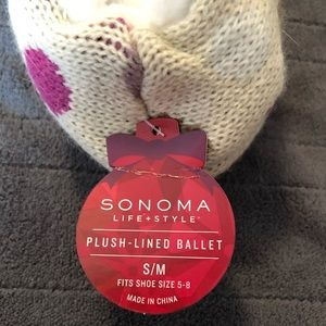 Sonoma Shoes - Plush lined ballet slippers